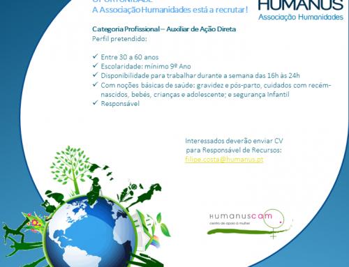 Oportunidade na Associação Humanidades